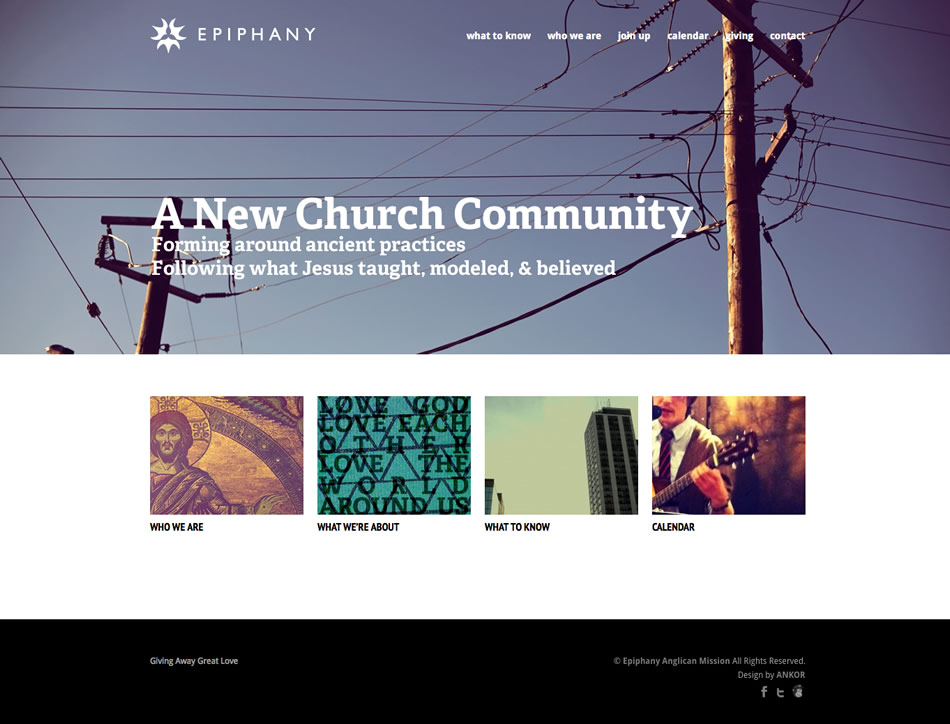 Epiphany Anglican Mission Web Design By Ankor In Peoria, Illinois
