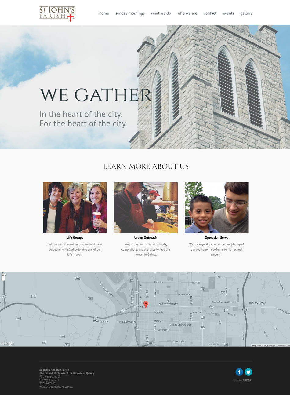 St John's Anglican Quincy Web Design By Ankor In Peoria, Illinois